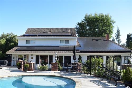 Solar installation Orange County.