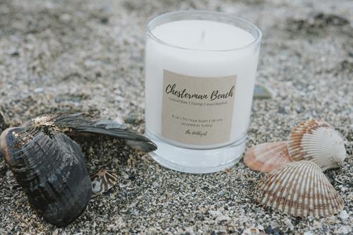 Chesterman Beach Candle, cucumber, hemp + sweet grass
