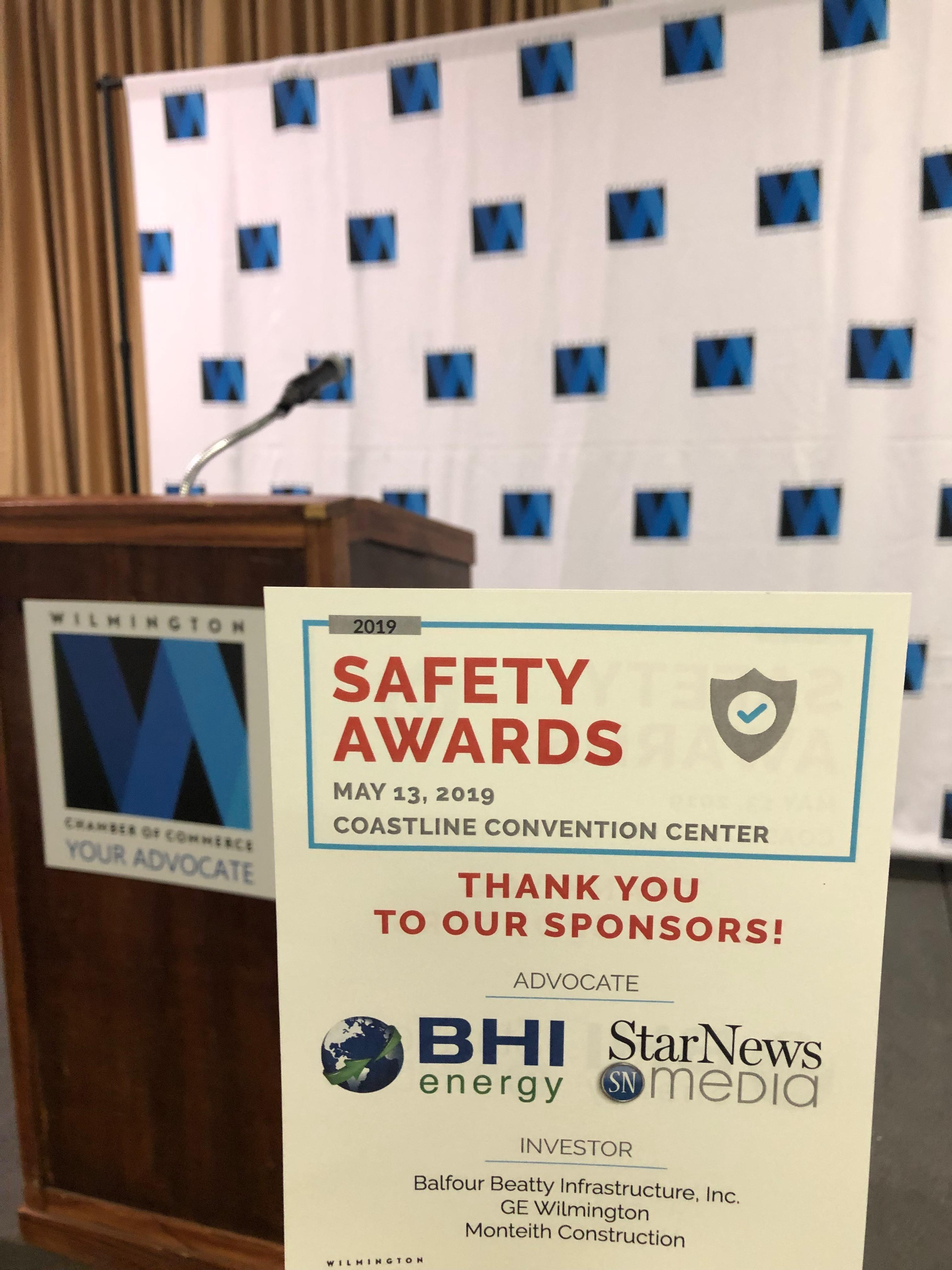 15 Wilmington Chamber of Commerce Members Honored at NC Department of Labor Safety Awards Banquet