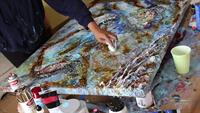 Learn how to add dimension to your acrylic pours. Art classes available every 3rd Saturday from 3-5p.m. at the USO Building. Price is 35.00 per person, contact for deals to include children.