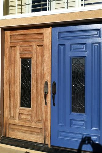 Front Doors (before & after)