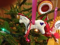 Horse Xmas Ornament in Tree