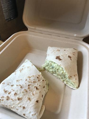 Chicken Avocado Salad Wrap
