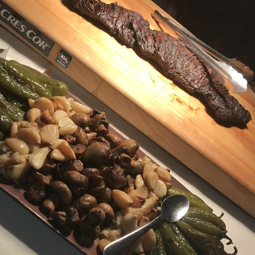 Black Nugget Marinated Flank Steak with Roasted Mushrooms