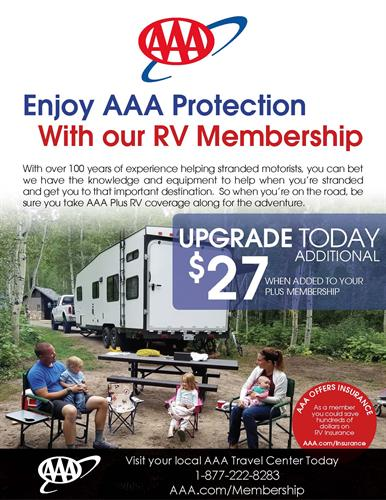 AAA PlusRV offers camper, trailer and RV coverage