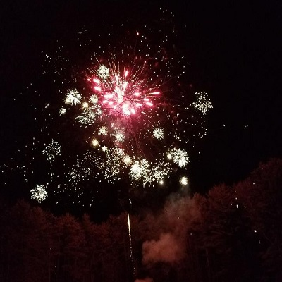Shot from our annual wintertime fireworks show