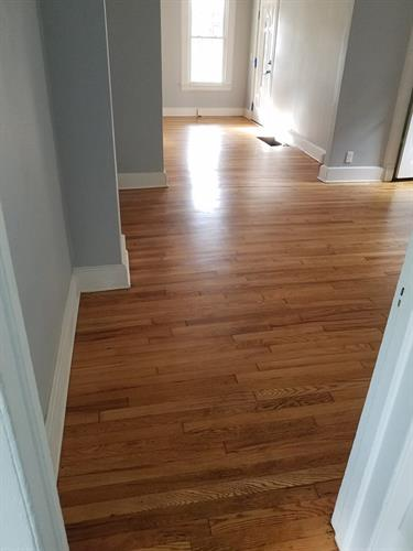 Interior paint and refinished floors