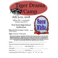 Tiger Drama Camp - Snew White - at Fort Scott High School 1pm