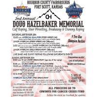 Doug Hazelbaker Memorial Breakaway, Calf Roping and Steer Wresting at the Bourbon County Fairgrounds