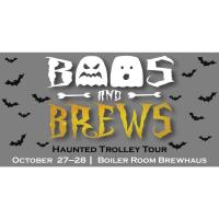 (cancelled for Friday) Boos & Brews Haunted Trolley Tour
