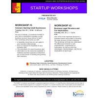 Kansas SBDC Entrepreneur Education Series Startup Workshop hosted by PSU