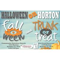 Halloween on Horton Fall-O-Ween or Trunk-Or-Treat hosted by Community Christian Church and Fort Scott Church of the Nazarene