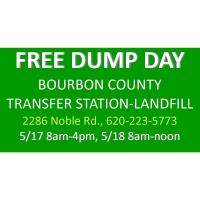 FREE Bourbon County Dump Day, Residential Only including tires