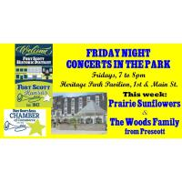 Friday Night Concert in the Park:  Pioneer Sunflowers, local area group performing eclectic music