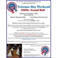 1800's Grand Ball as part of the Veterans Day Weekend Celebration