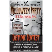 The Boiler Room Brewhaus invites you to their  Halloween Party!