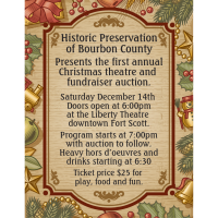 Christmas Dinner Theatre hosted by HPA (Historical Preservation Association of Bourbon County)