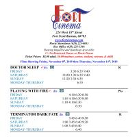 Fort Scott Cinema Showtimes 11/8 THRU 11/14