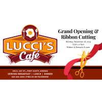 Lucci's Cafe Ribbon Cutting event hosted by the Chamber