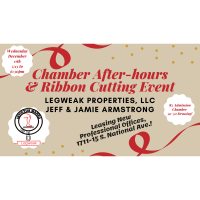 Chamber After-hours & Ribbon Cutting hosted by Legweak Properties, Jeff & Jamie Armstrong