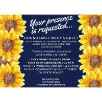 Private Event:  Kansas Lt. Gov. Lynn Rogers Meet & Greet/Roundtable