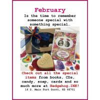 2nd Saturday Story time,  Valentines Series - Feb. 8th at Hedgehog.INK!
