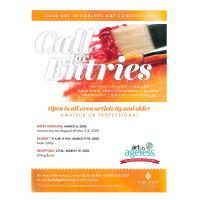 2020 Art is Ageless Art Competition: Reception, March 19 @ 2:30 Dinner