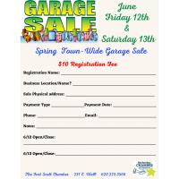 Spring Town-wide Garage Sale 2020