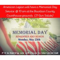 Memorial Day Service is hosted by American Legion