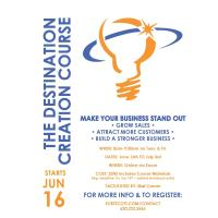 Destination Creation 6-session Online Course hosted by FS Chamber/Bourbon County E-Community