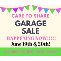 CARE TO SHARE GARAGE SALE!
