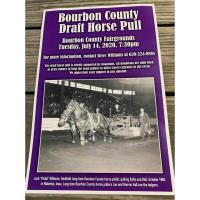 Draft Horse Pull - part of the Bourbon County Fair