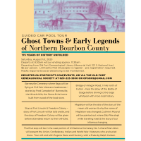 Carpool Tour - Ghost Towns & Early Legends of Northern Bourbon County