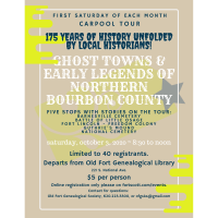 Bourbon County Carpool Tour - Ghost Towns & Early Legends of Northern Bourbon County
