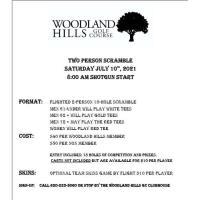 Woodland Hills Golf Course 2-Person Scramble GOLF TOURN.