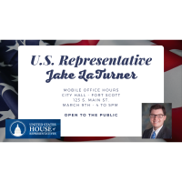 US Representative Jake LaTurner Mobile Office Hours @ City Hall, 4-5pm