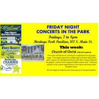 Friday Night Concert at the Heritage Park Pavilion~Church of Christ