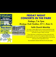 Friday Night Concert at the Heritage Park Pavilion~ Faith Church Worship, Garland