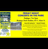 Friday Night Concert at the Heritage Park Pavilion~David Prickett