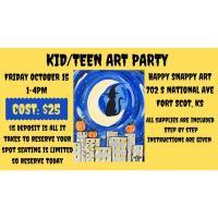 Snappy Art ~ KID/TEEN HALLOWEEN ART PARTY