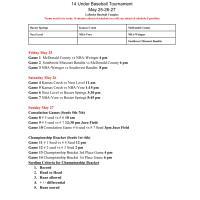 Dave Regan Memorial 14U Baseball Tournament - LaRoche Baseball Complex