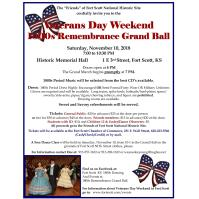 Veterans Day Weekend 1800's Remembrance Grand Ball