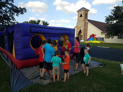 Preschool/Sunday School family fun night.