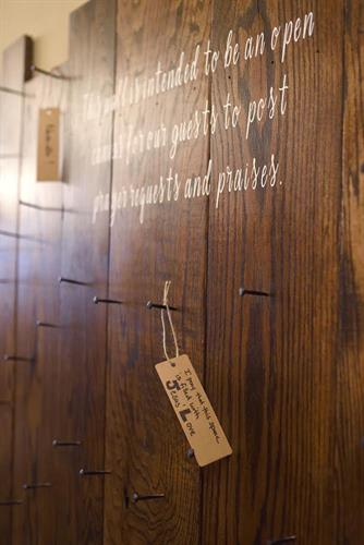 The Common Ground Coffee Co. Prayer Wall