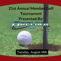 21st Annual Member Golf Tournament- Sponsored by Opelika Ford/Chrysler, Jeep, Dodge Ram
