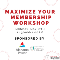 Maximize Your Membership // Sponsored By: Lewis Cooper Jr. Memorial Library & Alabama Power