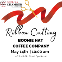 Boonie Hat Coffee Company & Market Street Paint Shop Ribbon Cutting