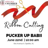 Pucker Up Babii Ribbon Cutting
