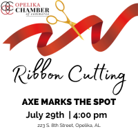 Axe Marks the Spot Ribbon Cutting