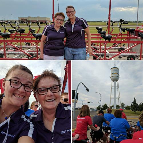 Janet and Alison riding the Big Bike for the Heart & Stroke Foundation! (June 2017)